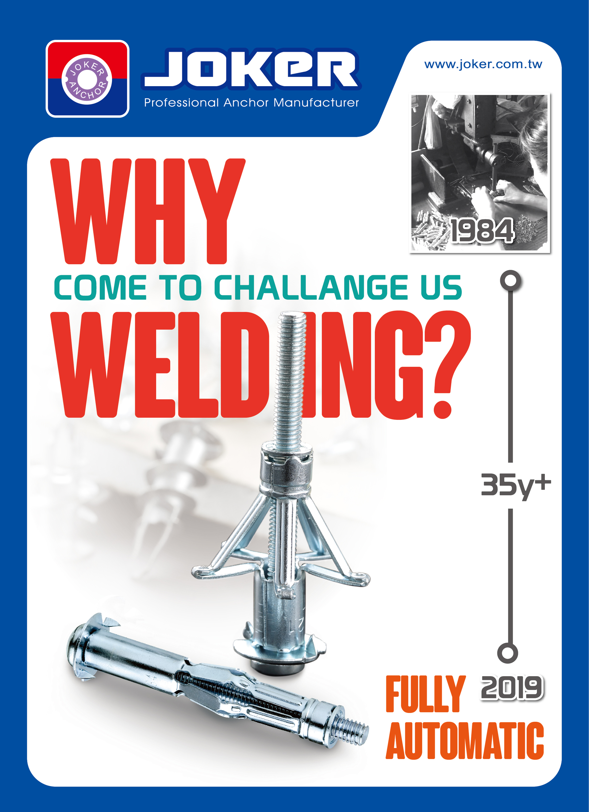welding hollow wall anchors